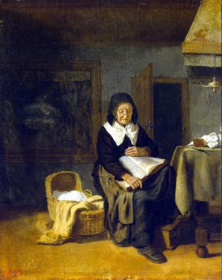 Питер ван ден Бос. Старуха за чтением