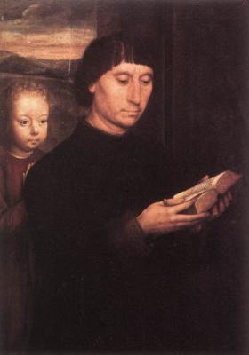 Ганс Мемлинг. Портрет читающего мужчины