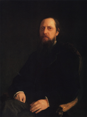 A portrait of the writer Mikhail Saltykov-Shchedrin