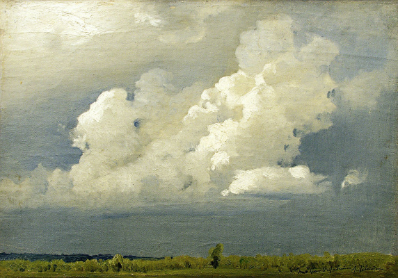 Isaac Levitan. Before the storm (Cloud)