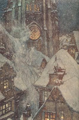 Эдмунд Дюлак. Иллюстрация к сказке Снежная Королева 001