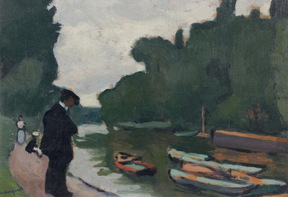 Albert Marquet. On the banks of the Seine to Pwace