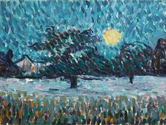 Giovanni Giacometti. Winter night