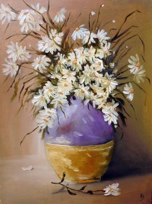 Sergei Nikolayevich Khodorenko-Zatonsky. Daisies in a vase