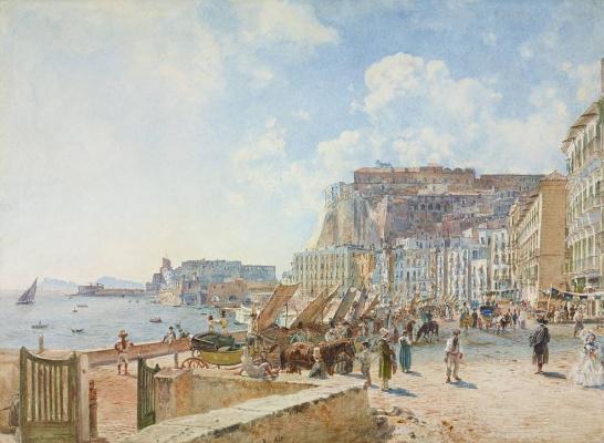 Rudolf Ritter von Alt. Ansicht von Neapel