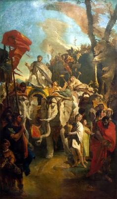 Giovanni Battista Tiepolo. The triumph of the commander Mania Curia Dantata