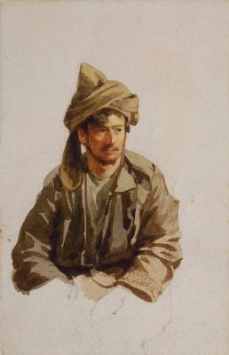 Luigi Premazzi. Sitting Highlander