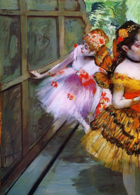 Ballerina in butterfly costumes (Dancers with wings)