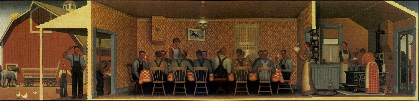 Grant Wood. Dinner for Molotilov