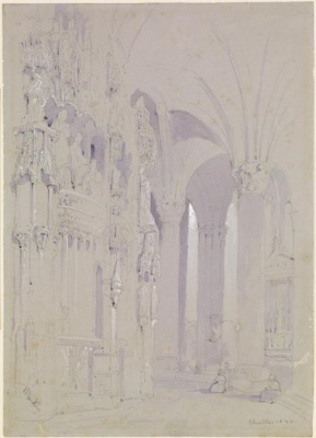 John Ruskin. Covered Gallery of Chartres Cathedral