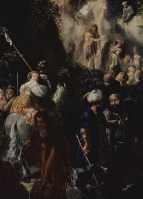 Иоганн Хюльцманн. Проповедь Иоанна Крестителя, деталь