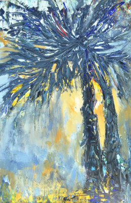 "Tanya Vasilenko. ""Palm"" acrylic on canvas. Palms. Acrylic on canvas."