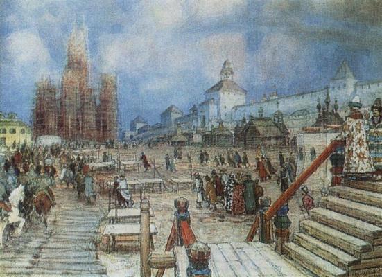 Apollinarius Mikhailovich Vasnetsov. Moscow under Ivan the terrible