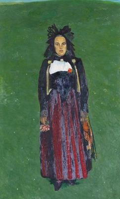 Cuno Amiè. A woman from Bern in national costume