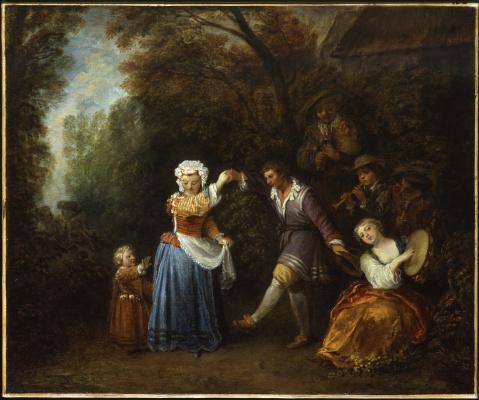 Antoine Watteau. Rustic dance