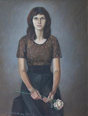 Boris Georgievich Bosko. Portrait of Elena Stekacheva