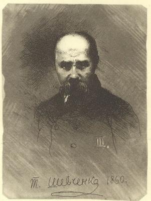 Taras Grigorievich Shevchenko. Self portrait in a dark suit