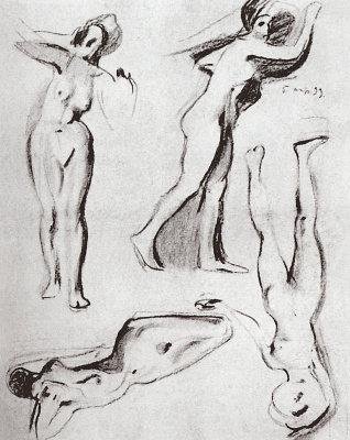 Constantin Somov. Models. Sketch