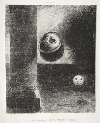 Odilon Redon. Dedication to Goya: There were also embryonic creatures