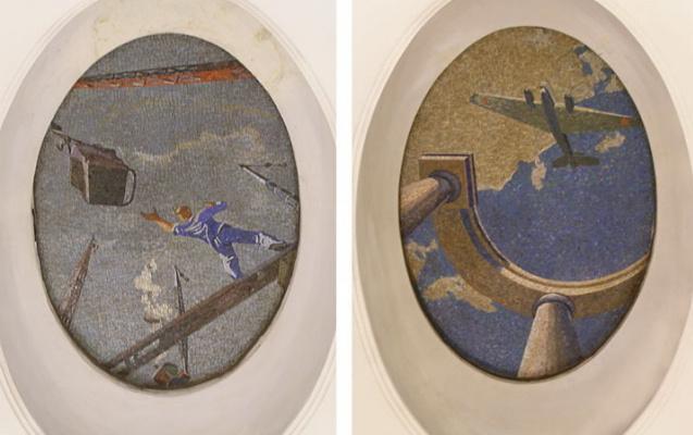 "Alexander Alexandrovich Deineka. The day of the Soviet sky. Mosaics for the metro station ""Mayakovskaya"""