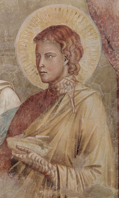Giotto di Bondone. Isaac blesses Jacob snippet: James