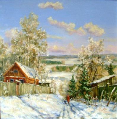 Victor Vladimirovich Kuryanov. Winter in Tarusa