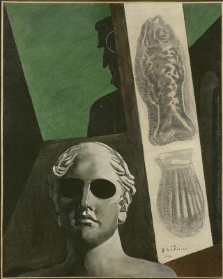 Giorgio de Chirico. Apollinaire. View of the poet