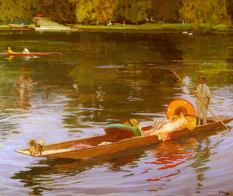 Джон Лавери. Катание на лодках по Темзе
