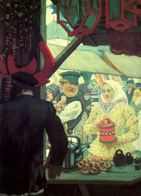 Boris Mikhailovich Kustodiev. Fair. Fragment