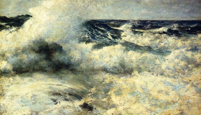 Edward Simmons. Stormy sea