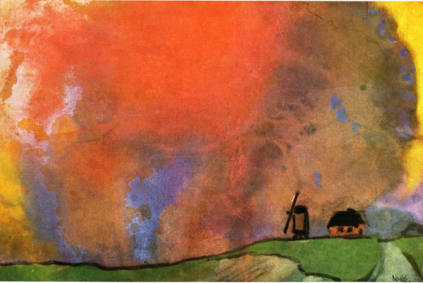 Emil Nolde. Red sky