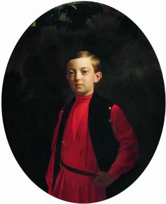 Sergey Konstantinovich Zaryanka. Portrait of Grand Duke Nikolai Aleksandrovich (1843-1865)