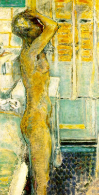 Pierre Bonnard. Nude on grey background