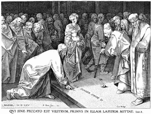 Питер Брейгель Старший. Христос и грешница
