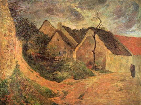 Paul Gauguin. Steep road in one
