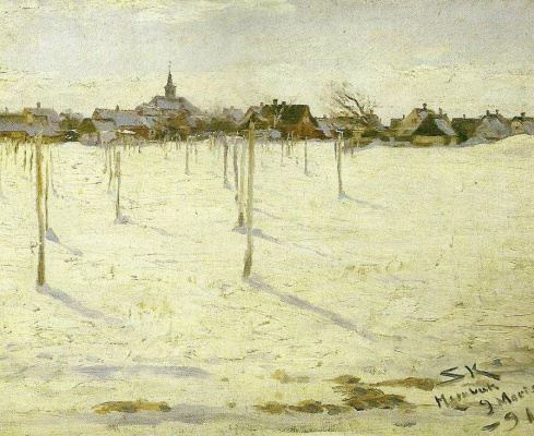 Peder Severin Kreyer. Hornbaek in winter