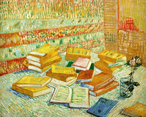 Винсент Ван Гог. Натюрморт с французскими романами и розой