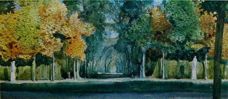 Constantin Somov. Autumn in the Park of Versailles