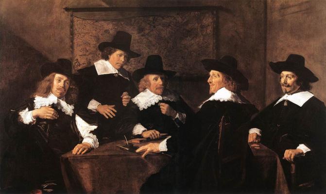 France Hals. Group portrait of the Regents of St Elizabeth's in Harlem