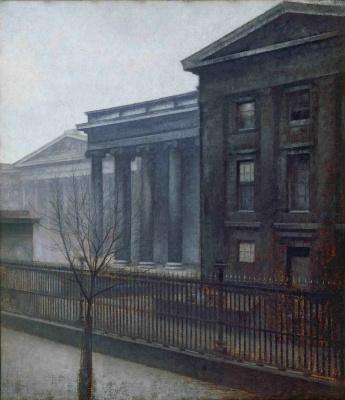 Vilhelm Hammershøi. British Museum in the winter
