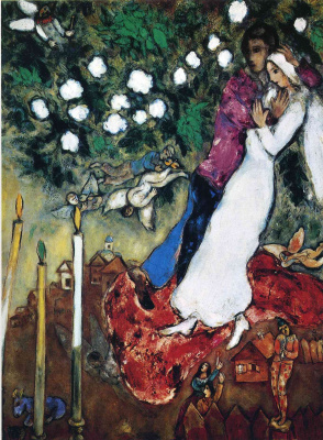 Marc Chagall. Three candles