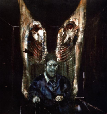 Francis Bacon. Figure with meat