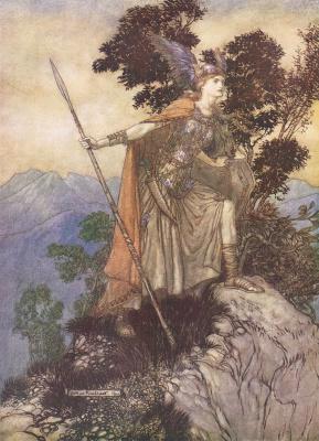 Arthur Rackham. Brunhilde