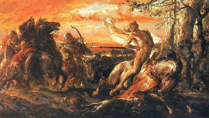 Jan Matejko. Death of Leszek the White
