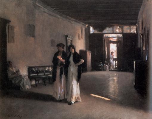 John Singer Sargent. Venetian interior