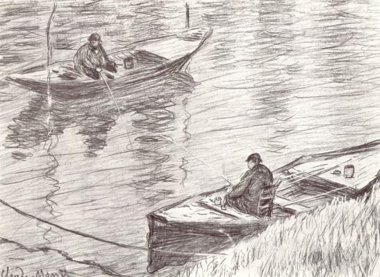 Claude Monet. Two fishermen