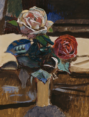Cuno Amiè. Vase with two roses