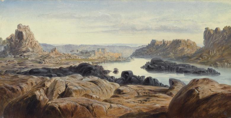 Эдвард Лир. Phyla and the Nile River, Egypt