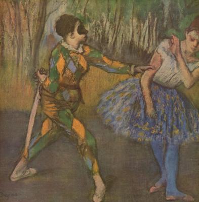 Edgar Degas. Harlequin and Columbine