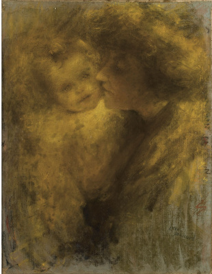 Lucien Levi-Durme. A young mother